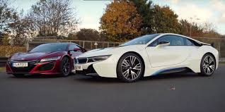 bmw i8 the bmw i8 and acura nsx give the future of the sports car hope