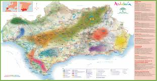 Almeria Spain Map by Andalusia Tourist Map