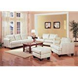 Cream Sofa And Loveseat Amazon Com 3 Pcs Cream Classic Leather Sofa Loveseat And Chair