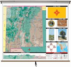 Mexico Wall Map New Mexico State Primary Thematic Wall Map On Roller W Backboard