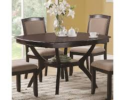 coaster memphis rounded square dining table co 102755