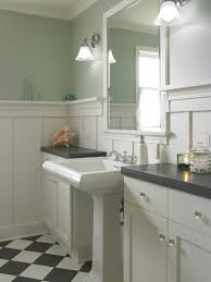 Bathroom Mirror Molding High Wainscoting Powder Room Traditional With Bathroom Mirror