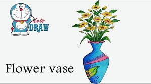 how to draw flower vase step by step very easy youtube