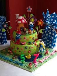 smurf party eats u0026 treats table smurfs birthday party