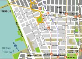 downtown manhattan map tribeca