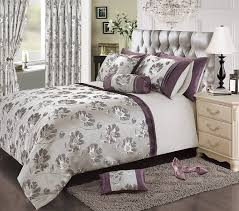 home bedding store premium super king size luxury jacquard purple