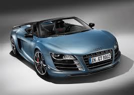 Audi R8 Blue - 2012 sphere blue audi r8 gt spyder 3q front eurocar news