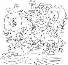 preschool jungle coloring pages jungle coloring sheets drawn jungle colouring page 3 jungle animal