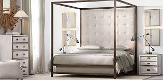 montrose canopy bed collection brass rh