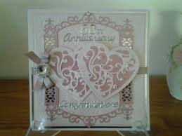 60th anniversary card spellbinders vines of passion u0026 gilded