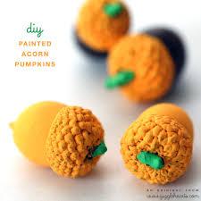 diy painted pumpkin acorns