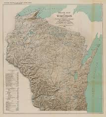 Wisconsin Topographic Map by Wisconsin Geological U0026 Natural History Survey The Physical