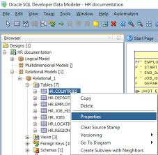 hr schema tables data how to generate database documentation with oracle sql developer