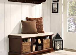 small entryway storage bench cushion stabbedinback foyer small