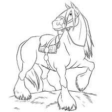 48 free printable horse coloring pages shire horse