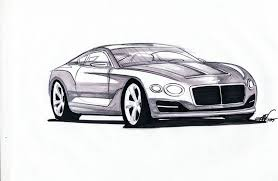 lamborghini sketch side view bentley exp 10speed6 broken down in custom sketch