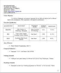 Sample Resume Format For Teachers by Best Resume Format For Freshers Professionalresumeformatforfresher