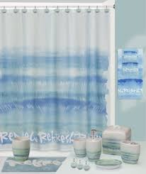 Shower Curtains With Matching Accessories Splash Relax Shower Curtain And Bathroom Accessories Linens4less