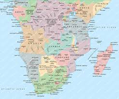 Africa On A Map by South Africa On A Map