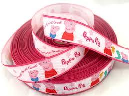 peppa pig ribbon peppa pig and george grosgrain new design ribbon 1mt x 25mm 1 viva