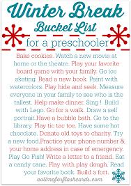 free printable winter break bucket list for preschoolers no time