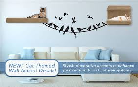 cat wall furniture cat themed wall decals decorative accents for cat furniture and