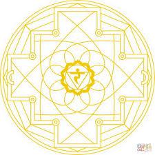 manipura chakra mandala coloring page free printable coloring pages