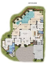 first floor plan of florida house plan 71521 floor plans