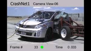 nissan versa hatchback 2011 nissan versa 2011 side crash test nhtsa high speed cam