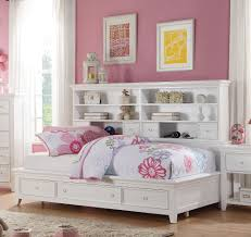 White Daybed With Storage White Bookcase Daybed Storage With All American
