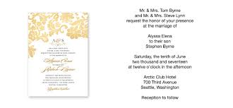 wedding ceremony invitation wording wedding invitation wording sles cloveranddot