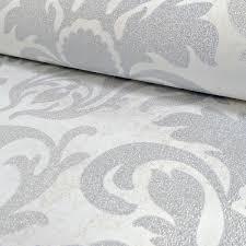 white glitter wallpaper ebay p s carat silver white glitter wallpaper damask stripe