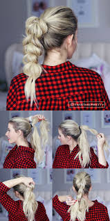 easy hairstyles for waitress s i love this pull through braid it looks so fancy but it s so