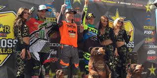canadian pro motocross monster energy alpinestars kawasaki scores podium at round two of