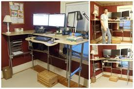 diy ergonomic computer desk revisited simplified building