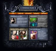 halloween web template website design 6465 gothic personal page custom website design