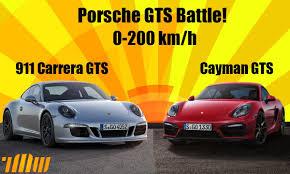 porsche boxter vs cayman 0 200 km h porsche gts battle 911 vs cayman