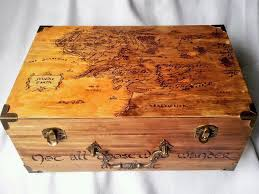 keepsake box lord of the rings woodburned keepsake box by kaderabek
