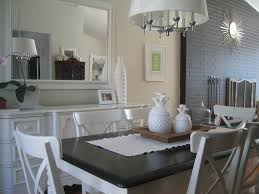 simple dining room ideas with classic white chairs and cute