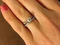 promise ring engagement ring and wedding ring set dual band wedding rings promise ring engagement ring and wedding
