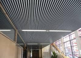 controsoffitto alluminio controsoffitto in alluminio in acciaio a doghe acustico