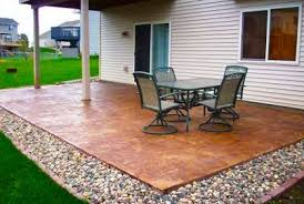 Backyard Concrete Ideas Diy Patios On A Budget Best Concrete Patio Designs Ideas