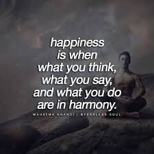 fearless soul on happiness is when what you think what