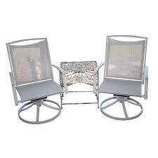 Swivel Patio Chairs Swivel Patio Chairs With Wrought Iron Table Ebth