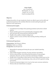 Resume Template For Receptionist Free Spa Receptionist Resume Template Sample Ms Word