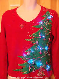 christmas tree sweater with lights the 77 best images about ugly christmas sweater on pinterest