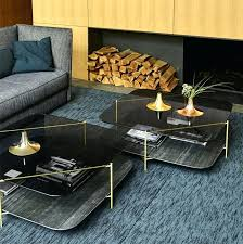Steel Living Room Furniture Fashion Living Room Furniture Brass Plated Steel Marble Effect