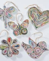 recycled paper hanging decorations diy tutorials