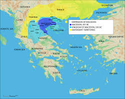 Map Of The World Bc by Map Of The Expansion Of Macedon Illustration Ancient History