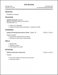 R D Resume Sample by Simple Job Resume Format First Time Resume Template St Time